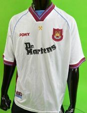 1998-1999 West Ham United Centenario Pony martillos Dr. Martens Away Camiseta Talla XL