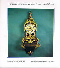 Sotheby's - French & Continental Furniture, Decorations & Clocks