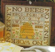 BIRDS OF A FEATHER CROSS STITCH NO BEES NO HONEY SAMPLER CHART