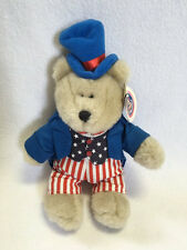NWT Starbucks 2002 Uncle Sam Bearista Plush 4th Of July Patriotic Teddy Bear