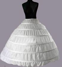 6 Layers White Bridal Wedding Skirt Dress Petticoat Underskirt Crinoline S-XL