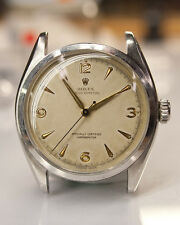 Rolex 1952 Bubbleback Chronometer Arabic Dial 6084 Mens Watch Steel SuperOyster
