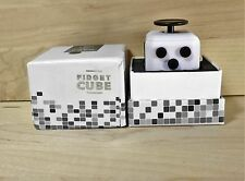 New White & Black  Full Fidget Cube 6 side anxiety stress attention relief toy