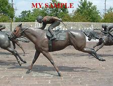 KENTUCKY THOROUGHBRED PARK BRONZE HORSE RACING JOCKEY SILK SADDLE CLOTH PHOTO #4