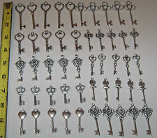 100 Wedding old look antique keys wedding silver skeleton events charms 100
