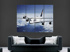 AIRBUS A380 SUPERJUMBO AEROPLANE   HUGE LARGE WALL ART POSTER PICTURE  IMAGE