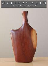 EPIC STYLE! DANISH MID CENTURY MODERNIST WOOD VASE! Vtg 50s Eames Nakashima Art