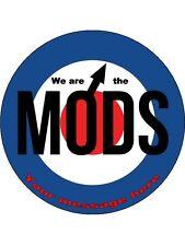 """Personalizado Somos los mods 7.5 """"Comestibles De Oblea De Papel Cake Topper Cumpleaños"""