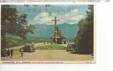 Indian Totem Pole Prospect Point Vancouver BC  Canada  Mailed 1951 Postcard 1177
