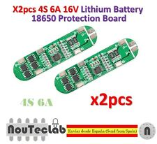 2pcs 4S 6A 16V Li-ion Lithium 18650 BMS PCM Battery Protection Board