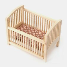 Dolls House Wooden Cot   :   Miniature Furniture in 12th scale