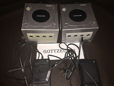 NINTENDO SILVER GAMECUBE CONSOLES SYSTEM BUNDLE NOT WORKING FOR PARTS OR REPAIR