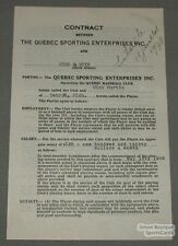 1938 Quebec Baseball Contract Signed by Nick Martin
