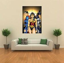 SUPERMAN, WONDER WOMAN, BATMAN NEW GIANT ART PRINT POSTER PICTURE WALL G483