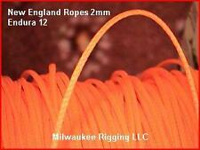 1.8mm x 120 ft Neon Orange Endura 12, New England Ropes dyneema SK75 #1525-02