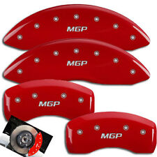 2012-2015 Mitsubishi Lancer Front + Rear Red MGP Brake Disc Caliper Covers