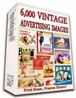6000+ VINTAGE ADVERTISING POSTERS ON DVD - WORLD WAR DRINKS TOBACCO FOOD BEAUTY