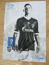 Handsignierte AK Autogrammkarte *MAX MEYER* FC Schalke 04 13/14 2013/2014