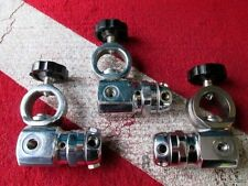 SCUBA DIVING PRE-OWNED SURPLUS LOT OF THREE ASSORTED SAS 1ST STAGE REGULATORS