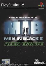 MEN IN BLACK II (2) ALIEN ESCAPE for Playstation 2 PS2 - with box & manual - PAL