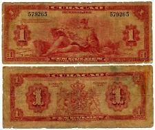 Curaçao. Curacao. Netherlands Antilles. Pick 35a. 1 Gulden (1942). Mercury.