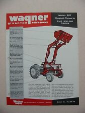 1955 Wagner Tractor 200 Pow'r-Load'r Brochure -Mint