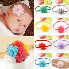 HOT 10Pcs Wholesale Baby Girls Infant Toddler Flower Headband Chiffon Hair Band