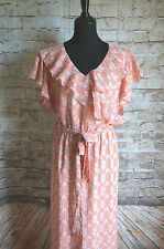 Modcloth This is Bliss Dress Sz XXL NWT tulip Print Coral Pink Gray