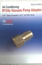 """R12 to R134A ADAPTER, 1/4"""" FEMALE FLARE WITH O-RING X 1/2"""" ACME MALE, FJC# 6014"""