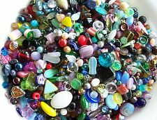 1/4 lb Pound LOT Mix Czech Glass Fire Polished Pressed Table Cut Beads 4 oz