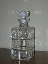Crystal whiskey decanter with square cut panels, ca. 1975, unsigned but quality