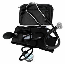 DIXIE EMS PROFESSIONAL BLOOD PRESSURE KIT W/ SPRAGUE RAPPAPORT STETHOSCOPE BLACK