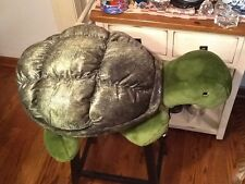 """Wal-Mart Stores Plush Green Turtle stuffed animal Pillow Very large  34 """""""