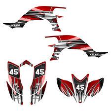 2003 2004 2005 2006 2007 2008 YFZ 450 graphics Yamaha deco kit #1300 Red