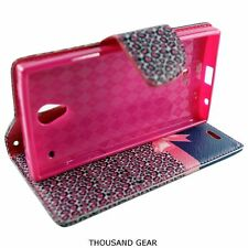 For Sharp Aquos Leather Pouch Folio Stand Cover Wallet Credit Case Gift Ribbon
