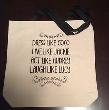 NEW Canvas Coco Jackie Audrey Lucille Tote Beach Bag Black Strap