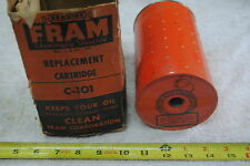 Vintage Fram C-101 Oil Filter replaces 5572501 5574295 1595105 5000889 853108