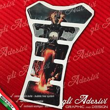 Paraserbatoio Resinato Sticker 3D GHOST RIDER Red Moto