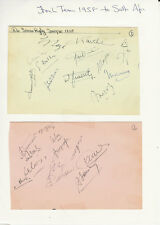 RUGBY - FRANCE TOUR OF SOUTH AFRICA 1958 SIGNED ALBUM PAGES