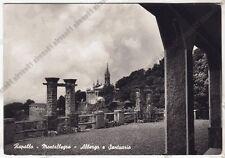 GENOVA RAPALLO 142 SANTUARIO MONTALLEGRO - ALBERGO Cartolina FOT. VIAGGIATA 1955