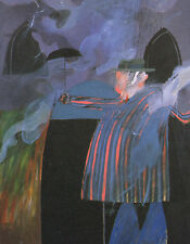 """DAVID HOCKNEY BOOK PRINT """"MAN IN FRONT OF HIS HOUSE WITH RAIN DESCENDING"""""""