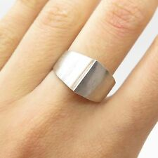 Mexico 925 Sterling Silver Wide Modernist Ring Size 7.5