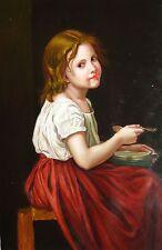 William_Bouguereau reproductions Oil Painting - La soupe  - size 24x36