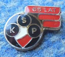 POLONIA WARSZAWA 65 ANNIVERSARY /1915-1980/ POLAND FOOTBALL BASKETBALL PIN BADGE