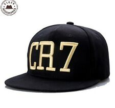 Cristiano Ronaldo CR7 Black Baseball Caps hip hop Sports Snapback hat unisex