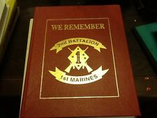 "USMC 2nd BATTALION 1st MARINE ""WE REMEMBER"" 1993 HC; Vietnam War"