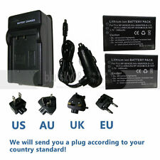 2pcs Battery+charger for HP Photosmart R07 R707 L1812/A/B R926/R927 Camera
