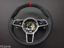 PORSCHE  MACAN S TURBO CARBON FIBER SPLIT LEATHER ALCANTARA RED STEERING WHEEL