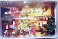 HO Preiser 10652 Santa with TREE , Gifts & Family CHRISTMAS FIGURES