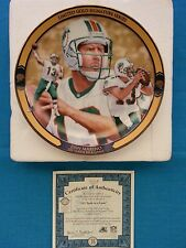 "DAN  MARINO       ""LIMITED GOLD SIG. SERIES""  BRADFORD  EXCHANGE  PLATE - ""521"""